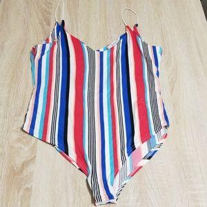 Gaze Striped Bodysuit Medium